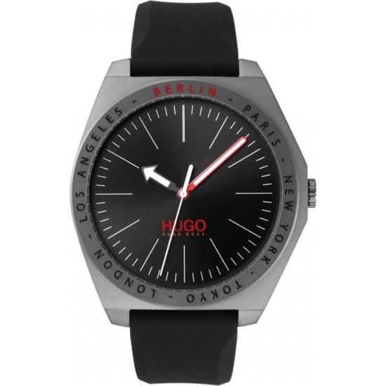Horloge met matgrijze coating en gegraveerde stadsnamen - 600584